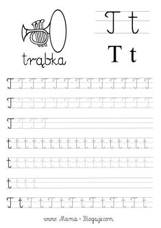 SZABLONY DO NAUKI PISANIA LITER - LITERKI M - Z - Mama Bloguje Preschool Writing, Kids Writing, Toddler Learning, Worksheets For Kids, Learn French, Alphabet, Classroom, Letters, Montessori