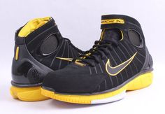 huge selection of ecec0 f257e Details about NEW Sz 12 Nike Air Zoom Kobe Bryant Huarache 2K4 Black Yellow  Lakers 308475-003