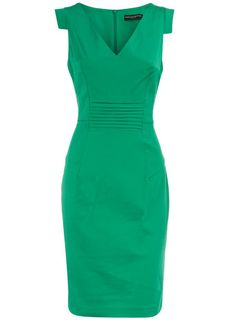 Cute work dress in a gorgeous color