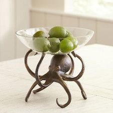 Features: -Material: Aluminum. Product Type: -Fruit bowl / basket. Color: -Brown. Material: -Aluminum. Style (Old): -Coastal. Pattern: -Solid Color. Number of Bowls Included: -1. Food Safe: -Y