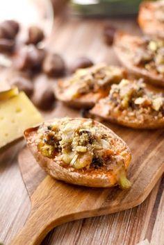 Patates douces farcies végétariennes de Noël : Recette de Patates douces farcies végétariennes de Noël - Marmiton