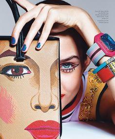 Prada. Josephine Skriver By Richard Burbridge For Harper's Bazaar