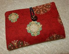 Tea Bag Wallet Red Medallion On The Go Tea Bag by AStitchinTime72