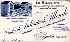 Etiqueta de la fábrica de cartónaje y almacen de papel,La Bilbaína.Begoña-Bilbao,años 30. Etiquetar fotoAñadir lugarEditar