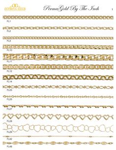 Gold Wholesale Chains by the Inch   OlympiaGold.com