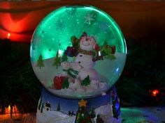 A Large Snow Globe From Rite Aid, And I Didnu0027t Pay More Than Five Dollars  For This One Either. Just Beautiful When Positioned With Pretty Christmas  Lights.