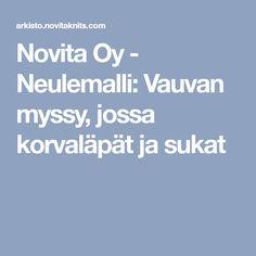 Novita Oy - Neulemalli: Vauvan myssy, jossa korvaläpät ja sukat
