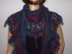 Fashion, Shawl, Scarf Crochet, Knitting And Crocheting, Threading, Patterns, Moda, Fashion Styles, Fashion Illustrations