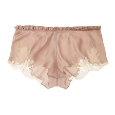 Carine Gilson Théme Egérie silk crepe de chine briefs (180 CHF) ❤ liked on Polyvore featuring intimates, panties, lingerie, underwear, shorts, silk panties, frilly panties, underwear panties, underwear lingerie and ruffle panty