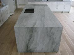 Countertop style and material (quartzite) option for the kitchen island