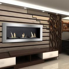Ignis Ardella Wall Mounted Recessed Ventless Ethanol Fireplace