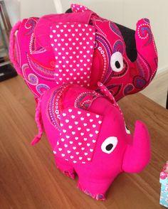 Olifant knuffels roze (meisje) - patroon van Melly and me