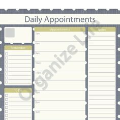 Printable Appointment Book Template - PDF | Free printable, Books ...