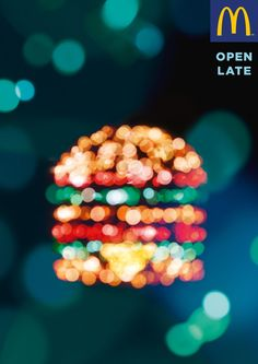 The Print Ad titled Open Late - Big Mac was done by TBWA Paris advertising agency for McDonald's in France. It was released in Jan Creative Advertising, Ads Creative, Creative Posters, Advertising Poster, Advertising Campaign, Advertising Design, Marketing And Advertising, Creative Design, Fast Food Advertising