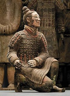 I have a small replaca of this solider! Read the history. China's Terracotta Warriors ~ Qin dynasty BCE) Qin Shihuang Terracotta Warriors and Horses Museum, Shaanxi Ancient History, Art History, European History, Ancient Aliens, American History, Qin Dynasty, Terracotta Army, Statues, China Art
