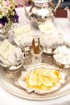 an elegant way to serve tea