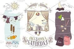 Once Upon a Saturday ~ Hand-drawn by LuvLite on @creativemarket