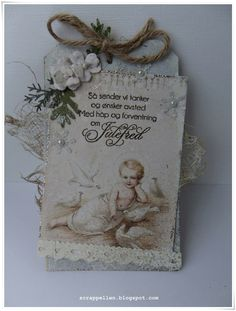 Gifttag with pion design papers