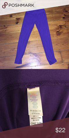 LuLaRoe OS Leggings Never washed or worn. OS. Pretty purple color. LuLaRoe Pants Leggings