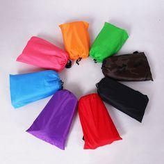 LAMZAC Lazy Bag Lay Bag Sleeping Bag Fast Inflatable Camping Air Sofa Sleeping Beach Bed Banana Lounge Bag Laybag