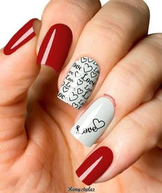 50+ Red nail polish can't have enough of this beautiful look - Reny styles