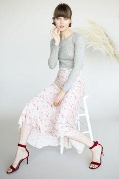 #Lily Ashwell - #Tanara TANARA SKIRT - HAVANA SILK - AdoreWe.com