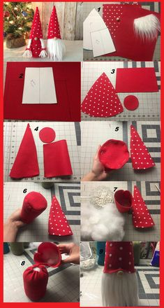 Dyi Crafts, Valentine Crafts, Crafts To Do, Felt Crafts, Holiday Crafts, Sewing Crafts, Christmas Gnome, Christmas Projects, Deco Nature