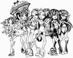 Monster High Free Printable Coloring Pages Coloringpagesfun