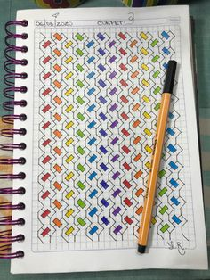 Blackwork Patterns, Blackwork Embroidery, Doodle Patterns, Cross Stitch Patterns, Graph Paper Drawings, Graph Paper Art, Easy Drawings, Bullet Journal Ideas Pages, Bullet Journal Inspiration