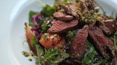 Kangaroo fillet salad at the Paleo Cafe, Bondi Junction.
