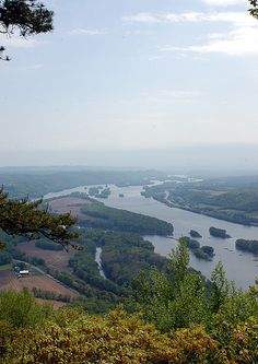 Susquehanna River from above - near Sunbury, PA