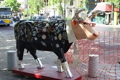 Art cow in Athens