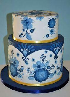Delfts blauw cake