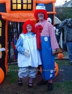 Fun Homemade Couple Costume Idea: Raggedy Ann and Andy… Enter Coolest Halloween Costume Contest at http://ideas.coolest-homemade-costumes.com/submit/