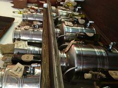 Vinegar & Olive Oil Bar Olive Bar, Olive Oil Bottles, Retail Space, Retail Shop, Shop Ideas, Zero Waste, Vinegar, Ideas Para, Liquor Cabinet