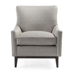 Handcrafted in America, the Arhaus Bingham Upholstered Chair in Double Pewter features clean, beautiful lines that mix well with modern décor.