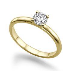 Diamant Ring Solitär 0.25 Karat (VS2/F) in 585er Gelbgold