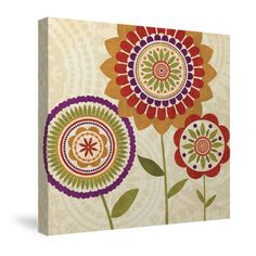 Fall Flowers II Canvas Wall Art – Laural Home