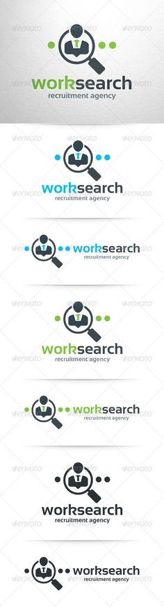 Work Search Logo Template
