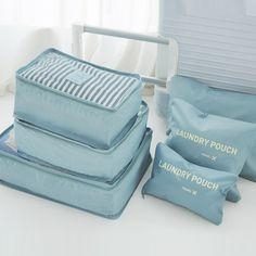 933c19fd70 6pcs/set Men Women Travel Storage bags Packing Cube Clothes Organizer Set  Bags For Trip