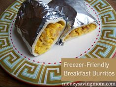 Freezer-Friendly Breakfast Burritos: Healthy and perfect on-the-go breakfast.