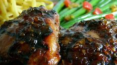 Shoyu Chicken is Hawaii's answer to teriyaki chicken. Chicken thigh meat is marinated in a sweet, spicy soy sauce marinade, then grilled and served with rice.