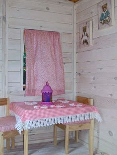 1000 images about interiores de las casitas de madera playhouse interiors on pinterest green - Casita madera infantil ...