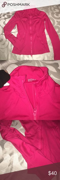 Zella zip up ruffle jacket Has two zip up pockets only worn about twice size S Zella Tops