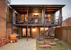 eclectic porch by Bennett Frank McCarthy Architects, Inc.
