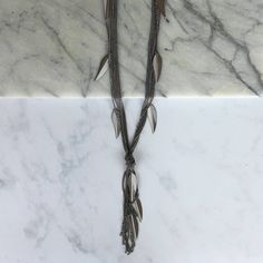 Long Leaf Layered Necklace