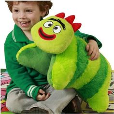 Yo Gabba Gabba Pillow Huggie - Brobee *** You can get additional details at the image link. (This is an affiliate link) #PlushPillows