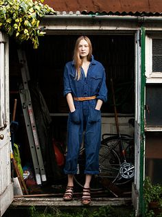 Slideshow: The Week in Street Style Denim Fashion, Womens Fashion, Fashion Trends, Denim Jumpsuit, Overalls, Vintage Denim, Normcore, Rompers, One Piece