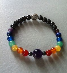 Semi precious chakra balancing stretch bracelet https://www.etsy.com/shop/EclecticCommodities