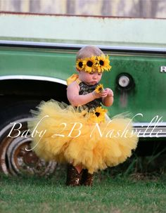 Camo Dress Yellow Sunflower Dress Flower Girl Dress Wedding Dress Mossy Oak Tutu Dress Baby Dress Toddler Dress Tulle Dress Girls Dress is part of Girls tulle dress - www etsy com Sunflower Party, Sunflower Flower, Yellow Sunflower, Dress Flower, Tulle Dress, Flower Girl Dresses, Tulle Tutu, Flower Girls, Camo Wedding